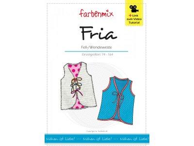 Papierschnittmuster Farbenmix Fria Fell-/Wendeweste - Mädchen