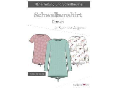 Papier-Schnittmuster Fadenkäfer - Schwalbenshirt - Damen