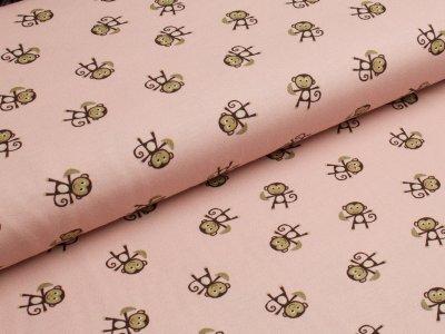 Jersey Avalana kleine Affen rosa-braun