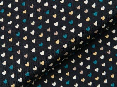 Jersey - kleine Herzen - dunkles blau