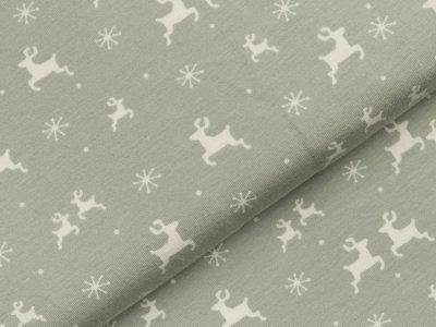 Jersey - Hirsche und Sterne - grau