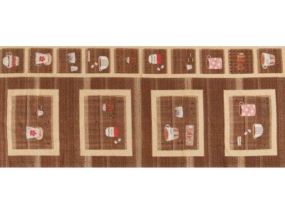 Gewebter Baumwollstoff PANEL ca. 60 x 140 cm - Coffee und Sugar - braun