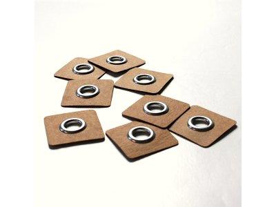Aufnäh-Ösen auf SnapPap 8mm 4 Stück - uni silber
