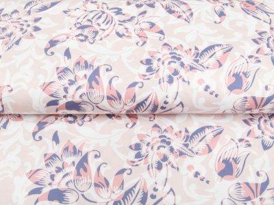 Single Jersey - Blumen - puderrosa