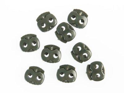 Kordelstopper für ca. 3 mm Kordeldurchmesser - 10 Stk - anthrazit