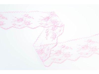 Spitze 70 mm - Blumen - altrosa