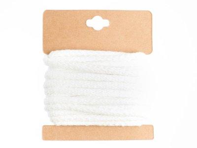 Baumwollkordel mit Glitzereffekt 5 mm - 5m Packung - weiß