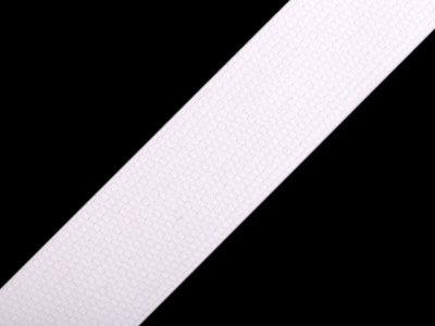 Gurtband Baumwolle 30 mm - uni weiß