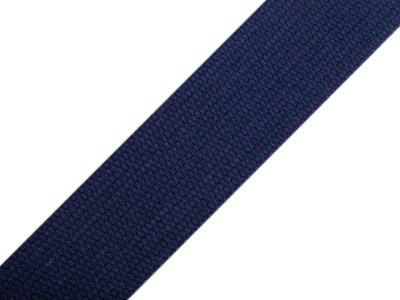 Gurtband Baumwolle 30 mm - uni dunkles blau