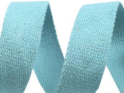 Gurtband Baumwolle 30 mm - uni helles blau