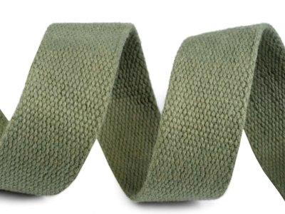 Gurtband Baumwolle 30 mm - uni grün