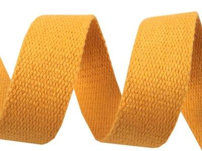 Gurtband Baumwolle 30 mm - uni ocker