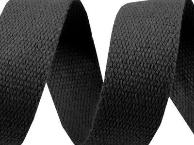 Gurtband Baumwolle 30 mm - uni schwarz