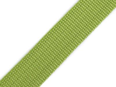 Gurtband 25 mm - uni grasgrün