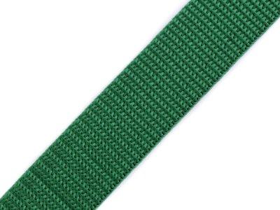 Gurtband 25 mm - uni flaschengrün