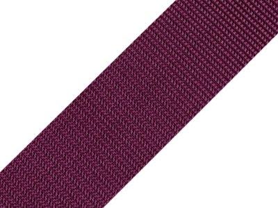 Gurtband 40 mm - uni dunkles lila