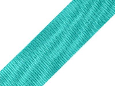 Gurtband 40 mm - uni aqua