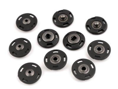 Druckknöpfe 21mm 6 Paar - schwarz