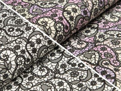 Jersey Farbwechsel Color Changing Print - Spitzenoptik - schwarz/multicolor