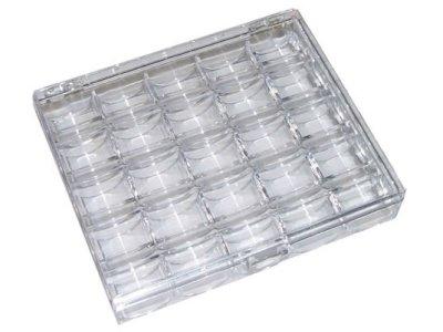 Nähfaden-Box Bobbin für 25 Spulen leer