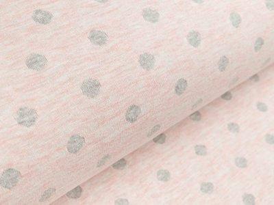Jacquard Stenzo - Punkte - meliert rosa