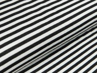 Jacquard Interlock Double Face Stenzo - Streifen - schwarz/weiß