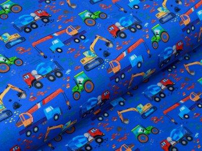 Jersey Digitaldruck The biggest work Trucks on the Road Stenzo - verschiedene Baufahrzeuge - blau