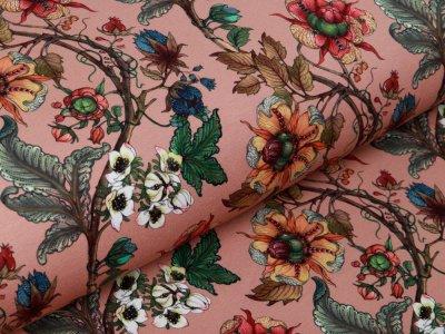 Sweat French Terry Digitaldruck Stenzo The Flower Garden - Herbstzweige und Blüten - altrosa