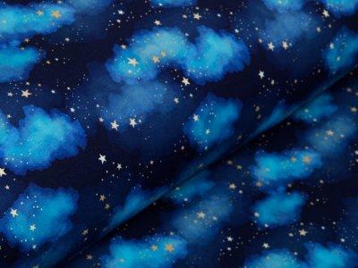 Sweat French Terry Digitaldruck Stenzo - Sternenhimmel - blau