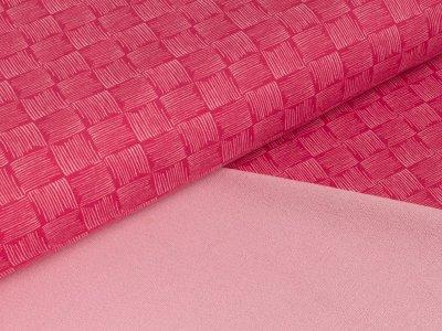 Sommer-Sweat Swafing - Rick - Kritzel-Schachbrett - pink