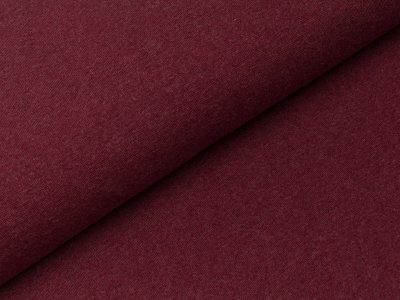 Glattes Bündchen im Schlauch Swafing 100cm breit - Heike-melange - uni bordeauxrot