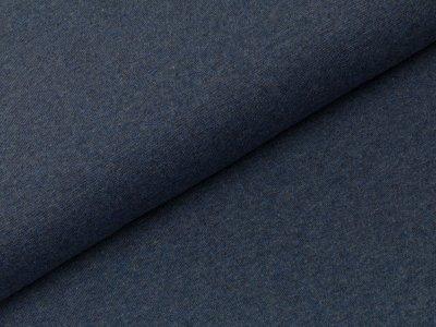 Glattes Bündchen im Schlauch Swafing 100cm breit - Heike-melange - uni blau