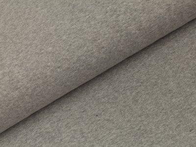 Glattes Bündchen im Schlauch Swafing 100cm breit - Heike-melange - uni helles grau