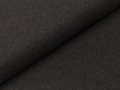 Glattes Bündchen im Schlauch Swafing 100cm breit - Heike-melange - uni anthrazit