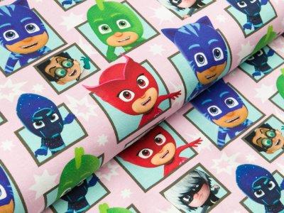 Jersey Swafing PJ Masks-Pyjamahelden - Pyjamahelden & Co. - rosa/bunt