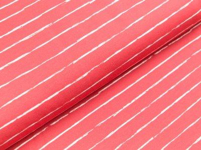 Jersey Swafing Crayon by Lila-Lotta - schmale Streifen - rot