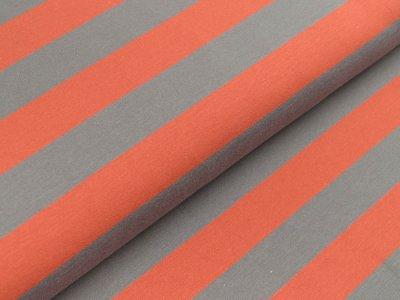 Jersey Swafing Isa - breite Streifen - rost/grau