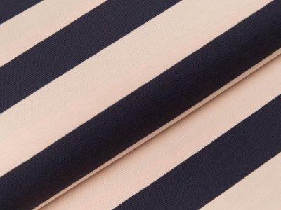 Jersey Swafing Isa - breite Streifen - puderrosa/dunkles blau