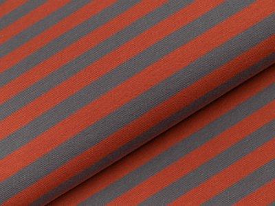 Jersey Swafing Isa - schmale Streifen - rost/grau