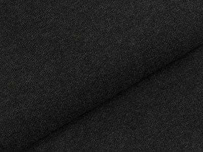 Leicht angerauter Strickstoff Bene Swafing made in Italy - anthrazit