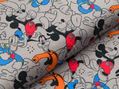 Disney-Angerauter Sweat Swafing - Micky Mouse & Friends - grau