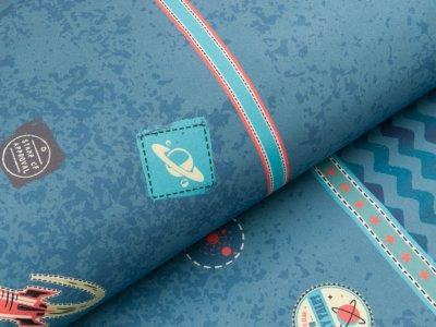 Nano Softshell Swafing Galaxy Patches by Bienvenido Colorido - jeansblau