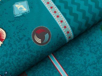 Nano Softshell Swafing Galaxy Patches by Bienvenido Colorido - petrol
