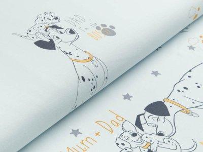 Jersey Swafing Disney-My Little Baby - 101 Dalmatiner PANEL ca. 95 x 160 cm - Dad ist the Boss - pastellblau