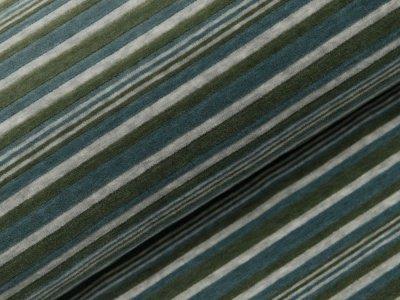 Nicki in Cord-Optik Swafing Elian - Steifen - meliert grau/blau