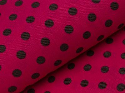 Feincord Babycord Swafing Josh - Punkte - pink/braun