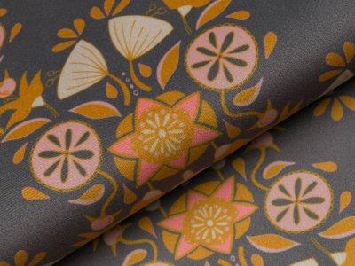 Velvet Swafing Bloomy by Cherry Picking - Ornamente - anthrazit