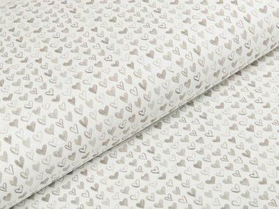 Jersey Swafing Ocean Breeze - Herzchen - weiß/beige