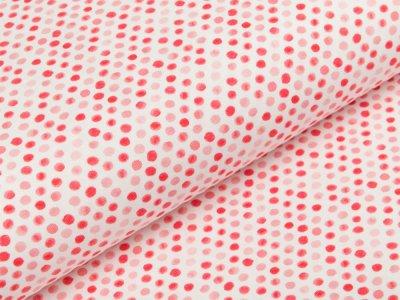 Jersey Swafing Ocean Breeze - unregelmäßige Punkte - weiß/rot
