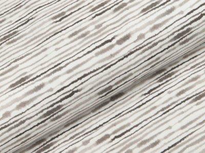 Jersey Swafing Ocean Breeze - Kritzelstreifen - weiß/beige